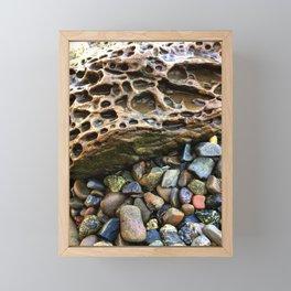 Rocks by the shore Framed Mini Art Print