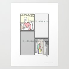 Pee time! Art Print