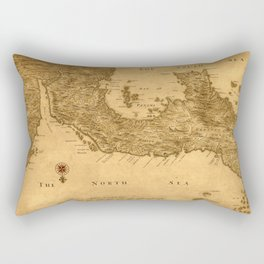 Map Of Panama 1800 Rectangular Pillow