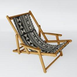 Boho Mud cloth (Black and White) Sling Chair