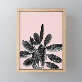 Black Blush Cactus #1 #plant #decor #art #society6 Framed Mini Art Print