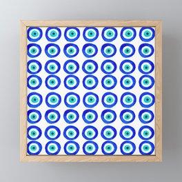 Evil Eye Amulet Talisman - on white Framed Mini Art Print
