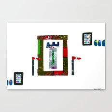 history, people, and vending machines, i Canvas Print