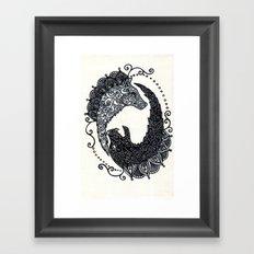 Wolf Chase Framed Art Print