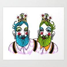 Crown Beard Twins Art Print