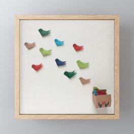 Birds for Peace Framed Mini Art Print