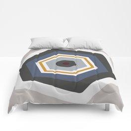 hexagon purple Comforters