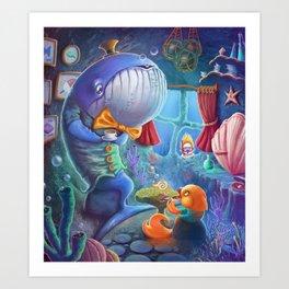 Fish tea Art Print