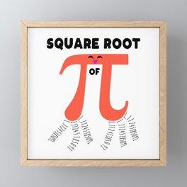 Square Root Of PI Day 2019 Math Teacher Framed Mini Art Print