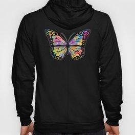 Pansexual Butterfly graphic Streetwear Graffiti Hand Drawn Hoody