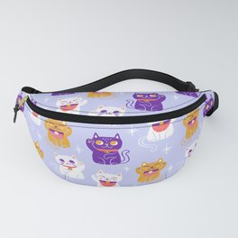 Lucky Waving Kitty Cat Maneki Neko Fanny Pack