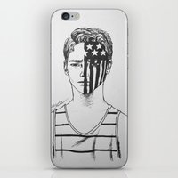 american beauty iPhone & iPod Skins featuring American Beauty/American Psycho by Katy Lawler