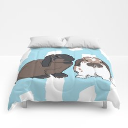 Oreo and Teddy Comforters