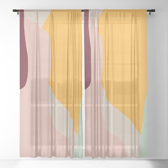 Ziz Abstract Painting Sheer Curtain