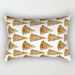 Spicy Meat Pizza Slice Polka Dot Pattern Rectangular Pillow