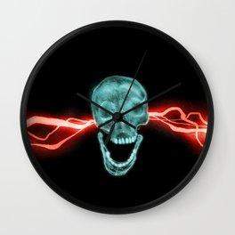 Electro Skull Wall Clock
