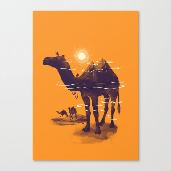 Walking Pyramid Canvas Print