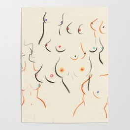 Breasts in Cream Poster
