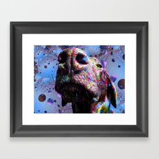 Chocolate Lab Nose Framed Art Print