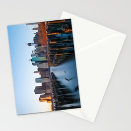 Sunset over Manhattan Stationery Cards