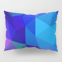 Sapphire Low Poly Pillow Sham