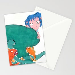 Blue girl. Stationery Cards