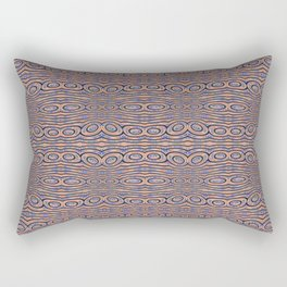 Aboriginal Pulse Pattern Neutral Warm Rectangular Pillow