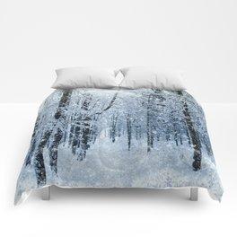 Winter wonderland scenery forest  Comforters