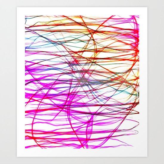 PIXEL RAINBOW Art Print