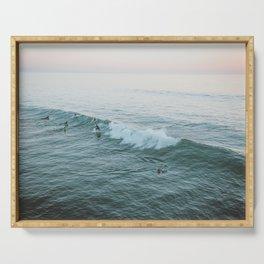 Let's Surf V Serving Tray