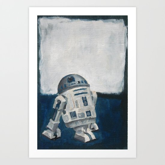 R2D2 and Rothko Art Print