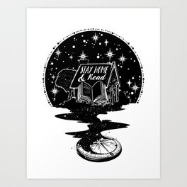 Stay Home & Read Art Print