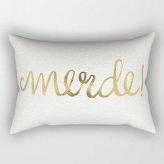 Pardon My French – Gold Ink Rectangular Pillow