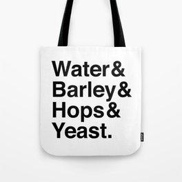 Beer Ingredients Tote Bag