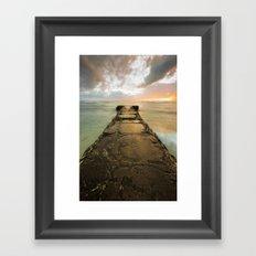 Sunset over Maili Framed Art Print