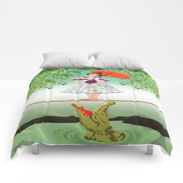 The Umbella girl With crocodile Comforters