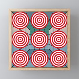 Shooting gallery with targets Framed Mini Art Print