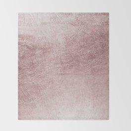 Modern elegant rose pink abstract pattern Throw Blanket