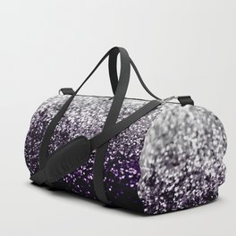 Dark Night Purple Black Silver Glitter #1 #shiny #decor #art #society6 Duffle Bag