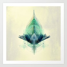 The Feathered Tribe Abstract / I Art Print