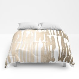 White Gold Sands Bamboo Stripes Comforters