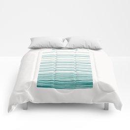 Linear Gradation - Teal Comforters