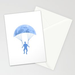 Paragliding At Night Stationery Cards