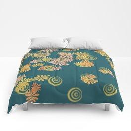 teal spring blast Comforters