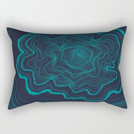 Tree Rings of Midnight Rectangular Pillow