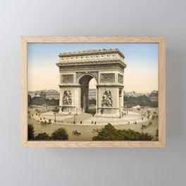 The Arc de Triomphe - Paris Circa 1890 Framed Mini Art Print