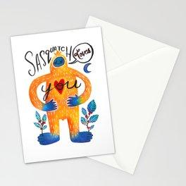 Sasquatch Loves You Stationery Cards