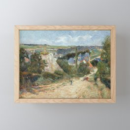 Entrance to the Village of Osny by Paul Gauguin Framed Mini Art Print