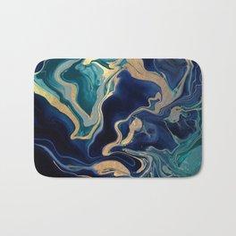 DRAMAQUEEN - GOLD INDIGO MARBLE Bath Mat