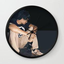 skatethruthenight ver 2 Wall Clock